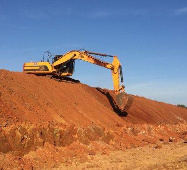 Terraplenagem para construção de Galpões para São Salvador Alimentos S.A